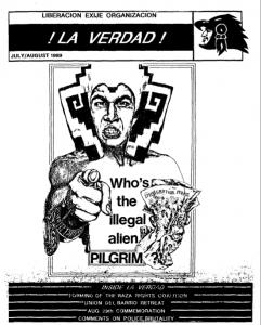 Cover of ¡La Verdad!, July - August, 1989.